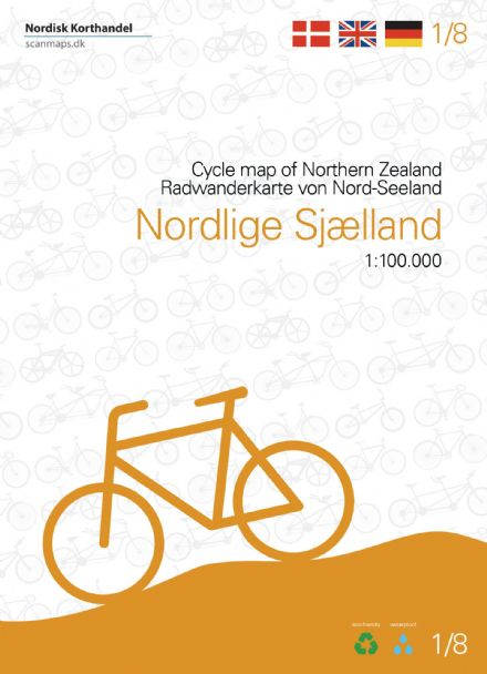 Denmark Cycling Map - 01 - Northern Zealand